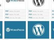 Logo,boutons fond ecran Wordpress