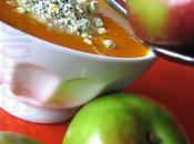 Velouté butternut oignons caramélisés, parfumé pomme cari
