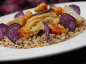 Fricassée Poularde Ecrevisses Safran, Quinoa Chips Vitelottes