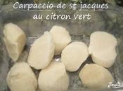 Carpaccio jacques citron vert vanille