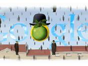 Google fête 110e anniversaire naissance Magritte...