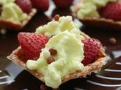 tartelettes croquante, fraises pandan pour 30ème KKVKVK