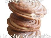 """Sablés """"rosace"""" pâte noisettes Stéphane Glacier"""