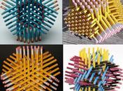 Décoration avec crayons