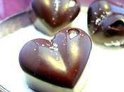 """Petits chocolats Pâques, Coeur ganache """"Pain d'épices marmelade d'orange (vegan)"""