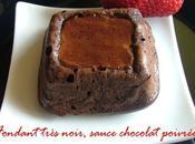 Ultra fondant très noir sauce chocolat poivrée Sichuan