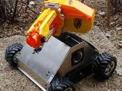 fusil NERF monté tank radiocommandé.