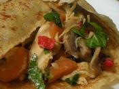 Wraps, Tortillas Galettes Poulet Légumes Poêlés