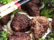 Nouilles Udon brocoli boulettes boeuf