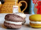 Macarons menthe-chocolat, framboise citron confit