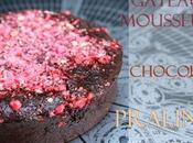 recette merveilleux gâteau fondant/mousseux chocolat L.Salomon avec fraise pralines rose