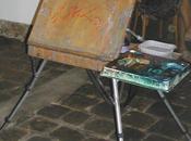 Démonstration d'une aquarelliste public Janine Gallizia Saint-Cyr-sur-Mer 2009