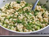 Taboulé salicornes concombre