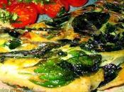 Omelette (frittata)aux épinards nouveaux