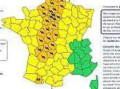 Meteo-France place départements vigilance orange orage