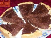 Tarte chocolat eclats d'amende! pate sans petrissage plait!