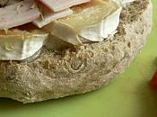 Tartines chèvre miel jambon