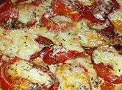 Tarte fine tomates, mozzarella, Serrano