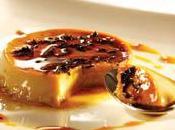 Crème caramel, coulis d'amande vert l'Amande