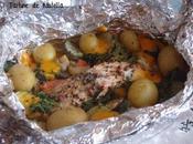 Papillote saumon légumes