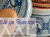 "**Gros Biscuits sablés façon ""digestive biscuits"" caramel rhubarbe version"