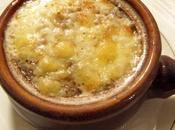 Cassolette soupe l'oignon gratinée cantal