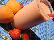 Smoothie abricot-fraise
