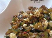 Poêlée courgettes aubergine féta