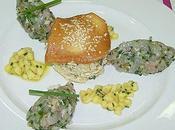 Tartare dorade citron vert chou chinois soja.