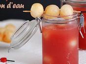 Soupe glacée pastèque melon d'eau pimente (aperitif entree)