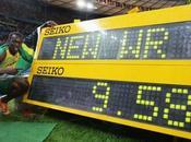Athlé 100m Bolt fusée