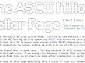 ASCII Million Dollar Page