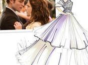 Stylistes dessinent robe mariage Bella