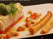 Cocos paimpol roquefort, tartare tomates croustillant
