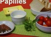 Croque tomates cerise, anchois mozzarella