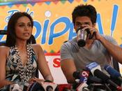 """Rani Mukherjee Shahid Kapoor pleine promo """"Dil Bole Hadippa""""."""
