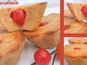Moelleux tomates séchées, coeur tomate cerise