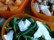 Salade poulet melon ricotta