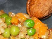 Risotto d'épeautre gardens beans carottes