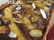Tarte poires caramélisées ganache noire fève Tonka