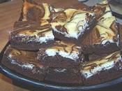 Brownies façon cheescake marbré.