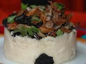 Purée d'haricot Soissons poêlée champignons truffe