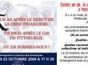 Table Ronde Octobre cercle d'amitié France/USA: Depuis crise...Où sommes nous? Quelles analyses ...?