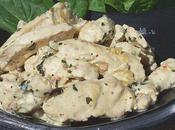 Emincé poulet baies roses curry.