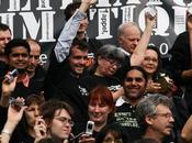 Flash-mob pour Climat samedi octobre Paris