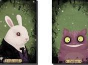 Wonderland: Alice, White Rabbit, Cheshire Queen hearts Rozenn Bothuon