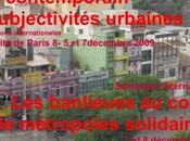 "Colloque ""Etat contemporain subjectivités urbaines"""
