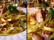 C'est presque noël Pâtes safran, foie gras girolles