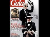 Karl Lagerfeld Geneviève Fontenay ensemble dans Gala