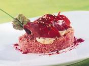 Magret d'oie fumé, salade quinoa vinaigrette tandoori